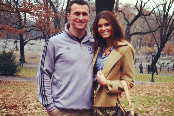 Heisman Winner Johnny Manziel Celebrates with Reported Girlfriend Sarah Savage