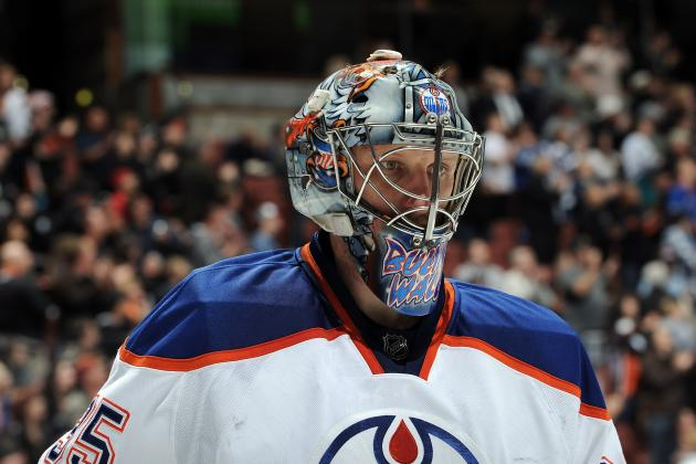 Oilers Khabibulin Still Working His Way Back from Hip Surgery
