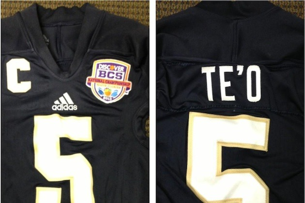 Photo: Notre Dame Jerseys Will Have Names for Title Game