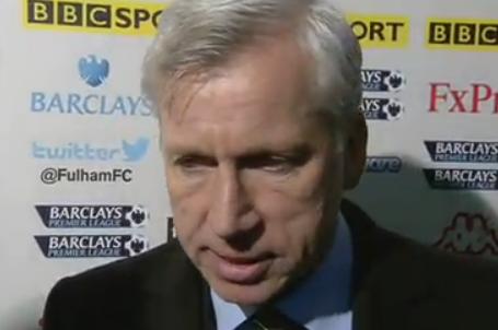 Pardew Upbeat Despite Fulham Defeat