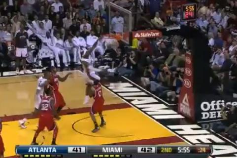 LeBron's Nasty Putback Slam