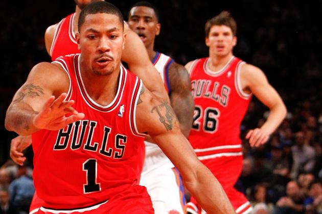 Injured Bulls Guard Derrick Rose Puts in Work After Practice