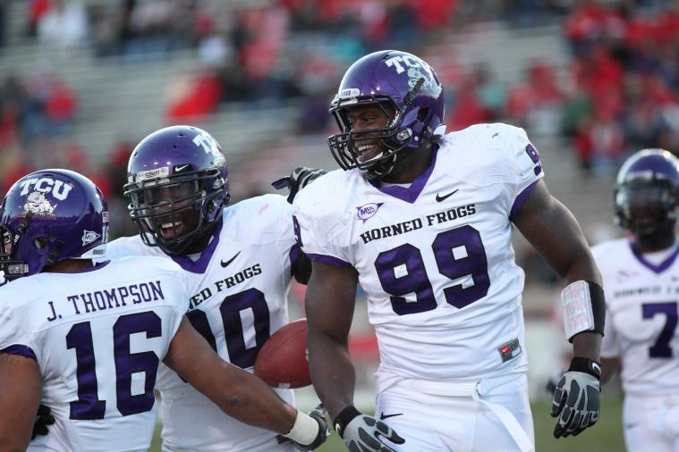 No Further Penalty for Oklahoma Lineman's 'Push' on TCU's Maponga