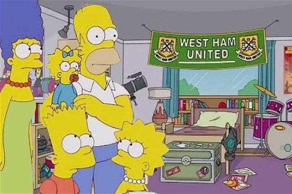 West Ham United Become First Premier League Team to 'appear' in the Simpsons -