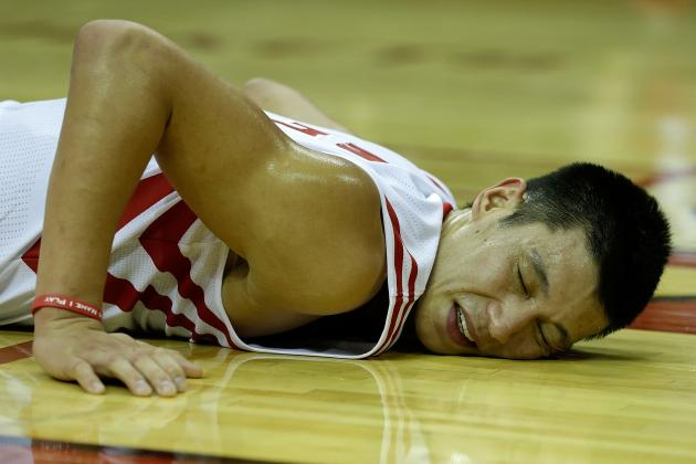 Harden Returns to Practice, but Lin Limps off with Same Injury