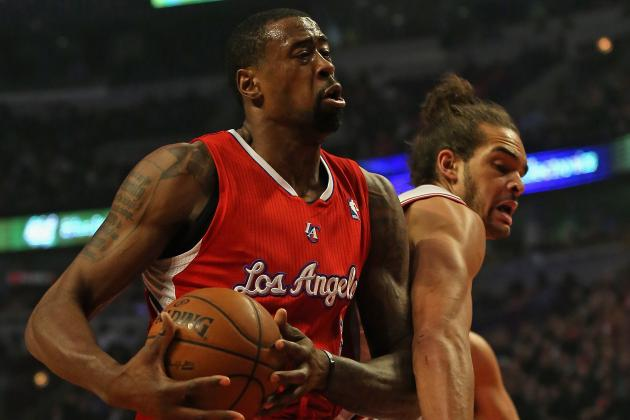 Watch: DeAndre Jordan Slams Home Putback Dunk over Bulls