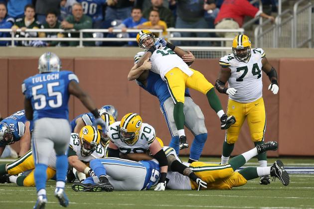 Rodgers Has Little to Say About Hits by Detroit's Fairley