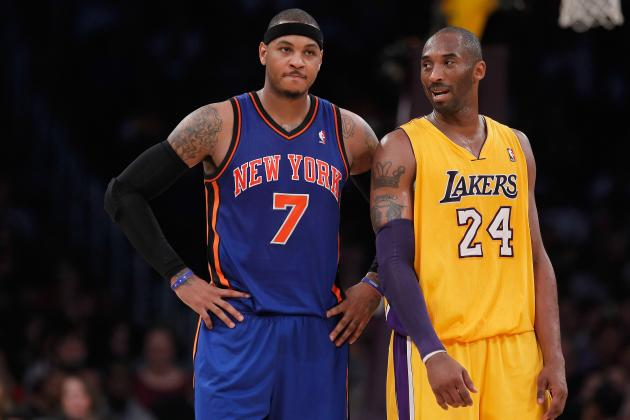 Can Carmelo Anthony Follow Kobe Bryant's Career Arc to NBA Title?