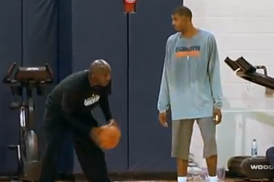 Jordan Works Out with Bobcats