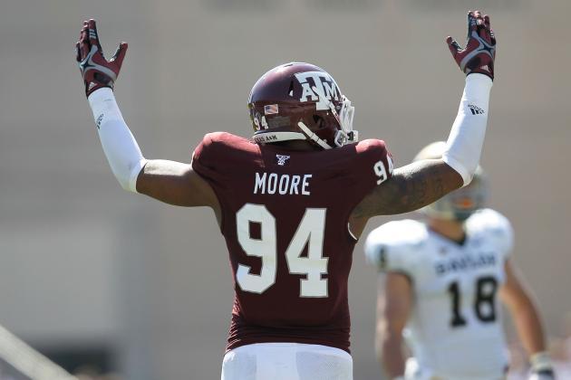 Texas A&M DE Damontre Moore Reportedly Enters NFL Draft