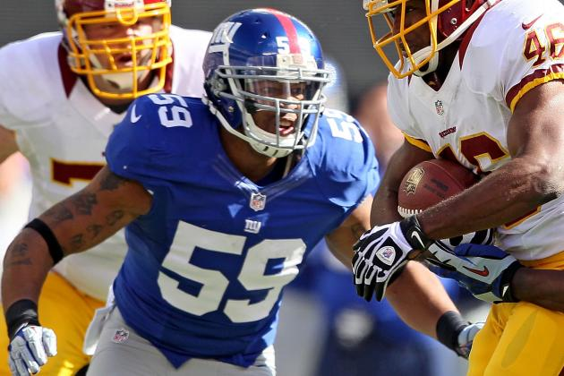 New York Giants' Michael Boley Misses Practice with Back Issue