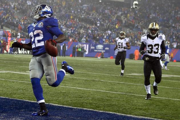 David Wilson: Fantasy Football Outlook for Giants RB If Ahmad Bradshaw Is Out