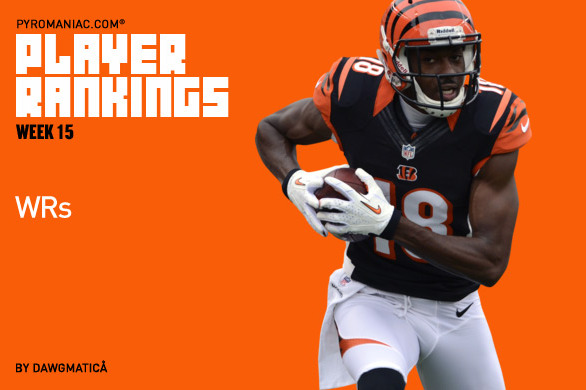 Fantasy Football Week 15: Rankings for the Top 80 Wide Receivers