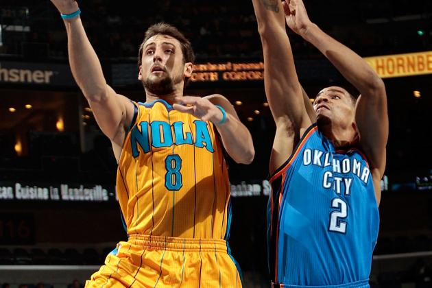 Oklahoma City Thunder Survives Scare, Nips New Orleans Hornets 92-88