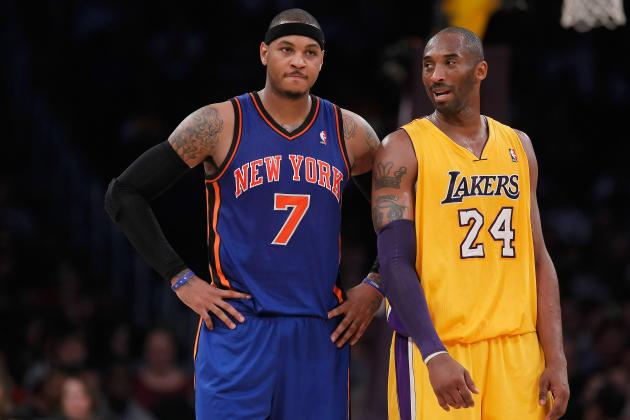 Kobe Bryant Continues to Play Mind Games with Carmelo Anthony
