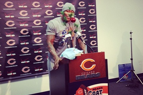 What Was with Brandon Marshall's Christmas Tree?