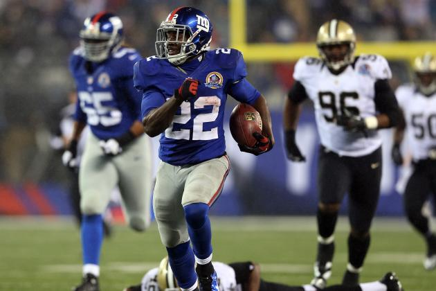 David Wilson: Projecting Giants RB's Fantasy Points If Ahmad Bradshaw Sits