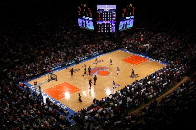 New york knicks why madison square garden is nba 39 s best home court advantage bleacher report Madison square garden basketball