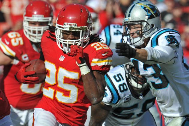 Chiefs' Charles Quietly Rumbling Toward Record Rushing Year