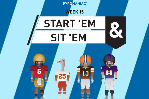 Fantasy Football 2012: Start 'Em, Sit 'Em for Week 15