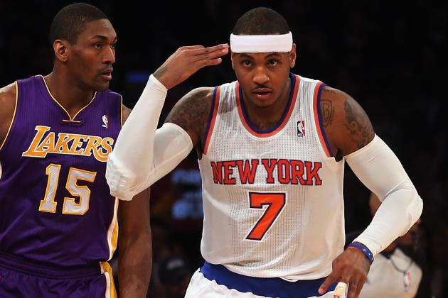 Carmelo Anthony Torches LA in D'Antoni's Return to Madison Square Garden