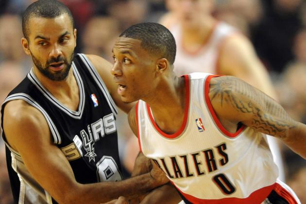 Lillard Scores Career-High 29 in Blazers' 98-90 Win over Spurs