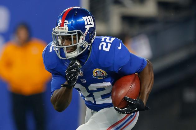 Ahmad Bradshaw's Injury Makes David Wilson Fantasy Must-Start in Week 15