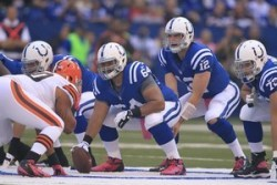 Colts Down Two Offensive Linemen Against Texans