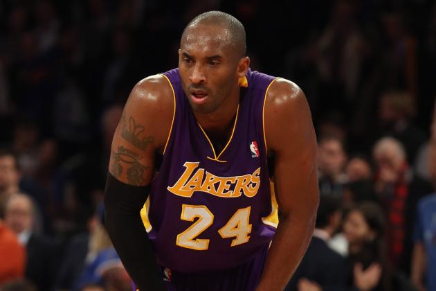 Kobe Probable Friday vs. Wiz with Back Spasms