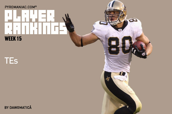 Fantasy Football 2012: Tight End Rankings and Analysis for Week 15