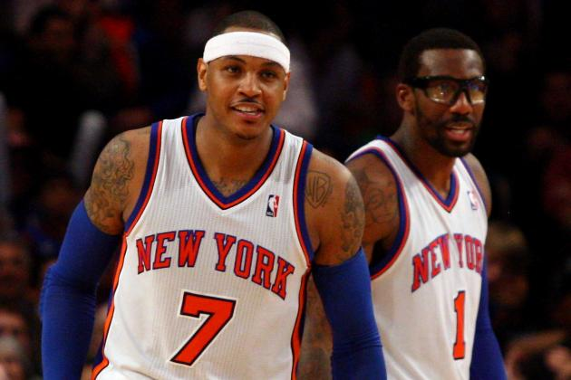 Amar'e Stoudemire's Return Perfect Timing for Dinged-Up Melo to Get Some Rest
