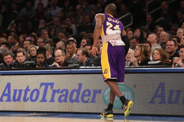 Kobe Bryant's Back Issue Couldn't Come at Worse Time for Los Angeles Lakers