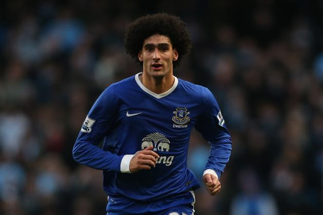 Everton Midfielder Marouane Fellaini Escapes Headbutt Red Card