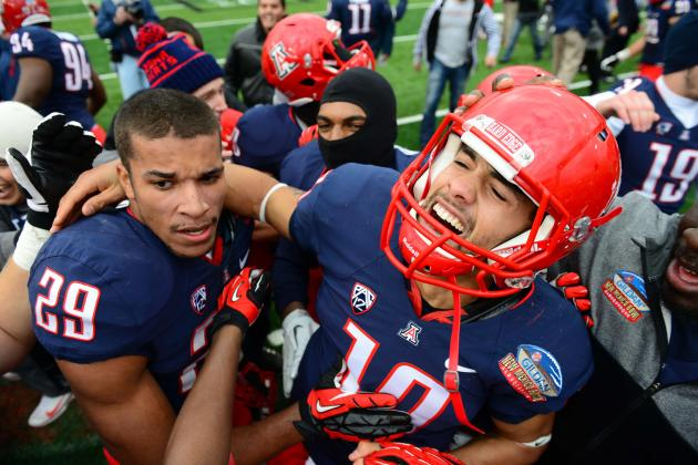 Wildcats Score Twice in Final Minute, Stun Nevada in New Mexico Bowl
