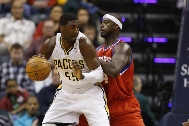 Roy Hibbert Questionable to Return vs. Pistons Due to Thigh Bruise