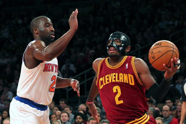 Kyrie Irving Wears Protective Mask, Posts Career High in MSG