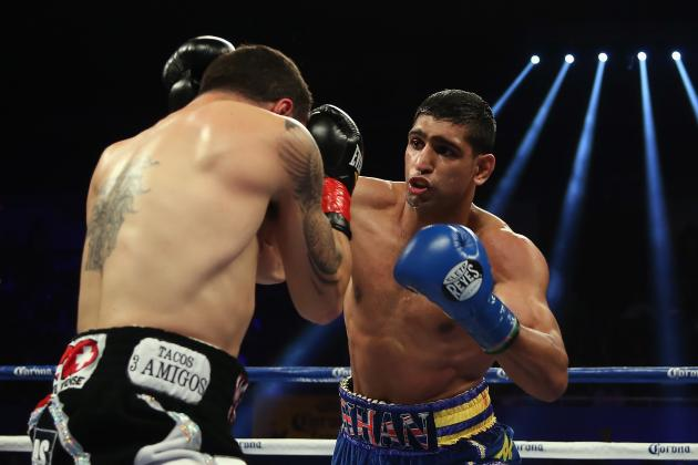 Amir Khan Outclasses Carlos Molina Winning by 10th Round TKO