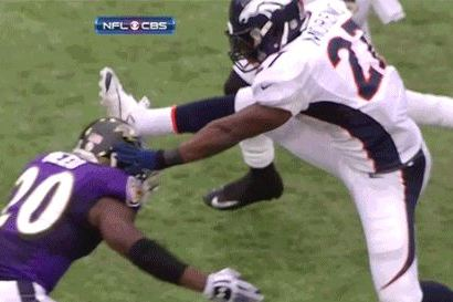 Knowshon Moreno Hurdles Ed Reed Like a Tiny Turd