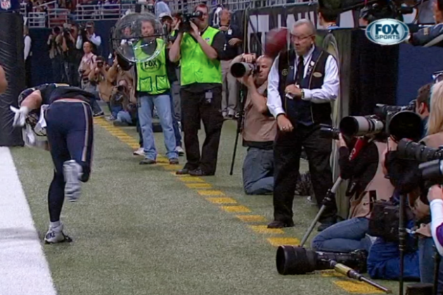 Danny Amendola's Spike Injures Elderly Staff Member During Touchdown Celebration