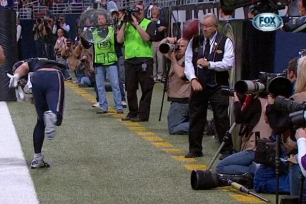 Danny Amendola's Spike Injures Elderly Staff Member During Touchdown Celebration