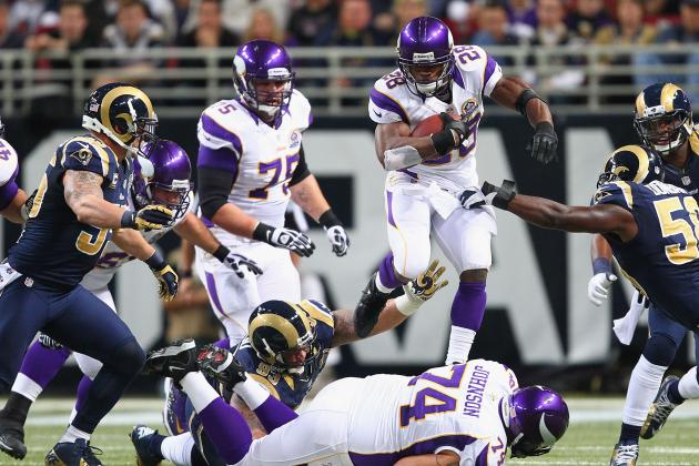 Minnesota Vikings' Adrian Peterson Now Running Downhill at All-Time Mark