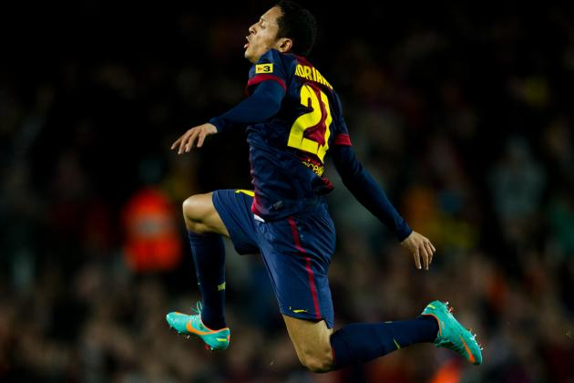 Lionel Messi Outduels Radamel Falcao, but Adriano Steals the Show for Barcelona
