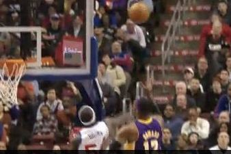 Video: Kwame Swats Dwight's Hook Shot