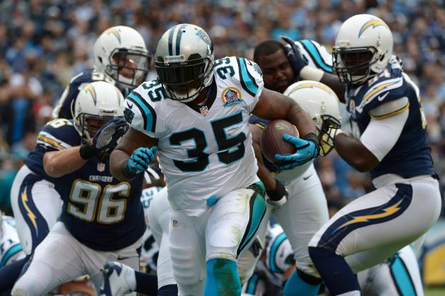 Panthers' Tolbert Back in S.D., Has 2 TDs in Win