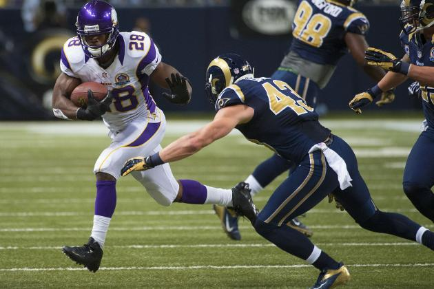 Vikings vs. Rams: Adrian Peterson Stole Steven Jackson's Thunder on Historic Day
