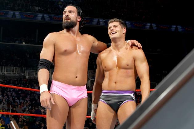 Team Rhodes Scholars' WWE TLC Win Leads Them to Team Hell No