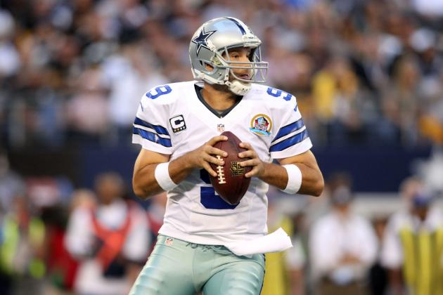 Tony Romo Goes over the 25,000-Yard Mark for His Career