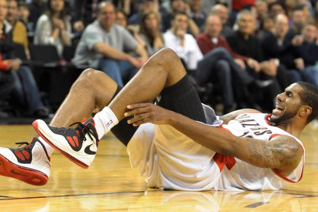 LaMarcus Aldridge Suffered Sprained Ankle vs. Hornets