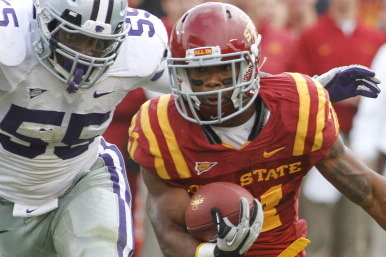 ISU RB Johnson out for Liberty Bowl