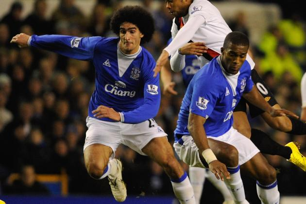 Sylvain Distin Warns Evertons Marouane Fellaini Following Stoke Headbutt